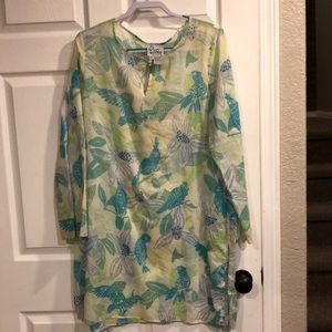 Lilly Pulitzer floral bird coverup